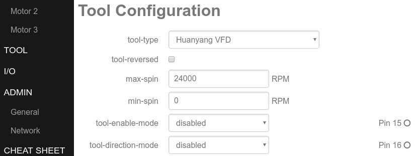 Buildbotics tool configuration