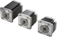 Three different stepper motors